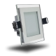 Downlight LED 6W Cristal Luz Natural 350Lm Panel Led Cuadrado 4500ºK