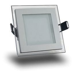 Downlight LED 6W Cristal Luz Natural 350Lm Panel Led Cuadrado 4500ºK