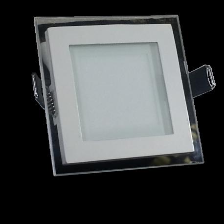 Downlight LED 6W Cristal Luz Fría 360Lm Panel Led Cuadrado 6000ºK