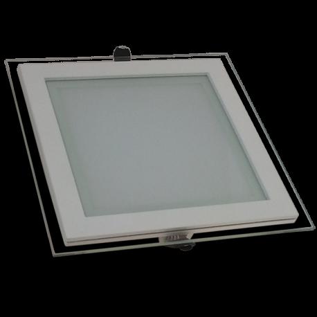 Downlight LED 18W Cristal Luz Cálida 1050Lm Panel Led Cuadrado 3000ºK
