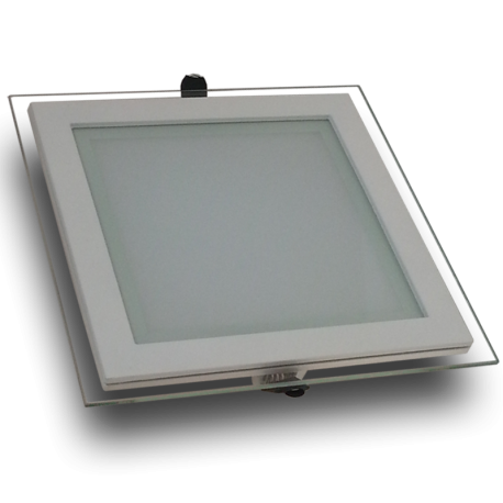 Downlight LED 18W Cristal Luz Cálida 1050Lm Panel Led Cuadrado 3000ºK