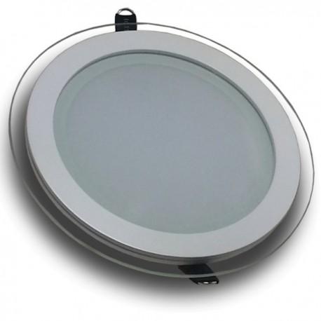 Downlight LED 18W Cristal Luz Fría 1150Lm Panel Led Redondo 6000ºK