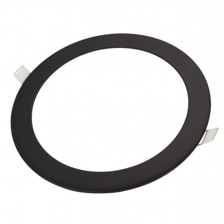 Downlight LED 18W Negro Ultrafino +1330Lm Redondo Empotrable Luz Fría 6000ºK