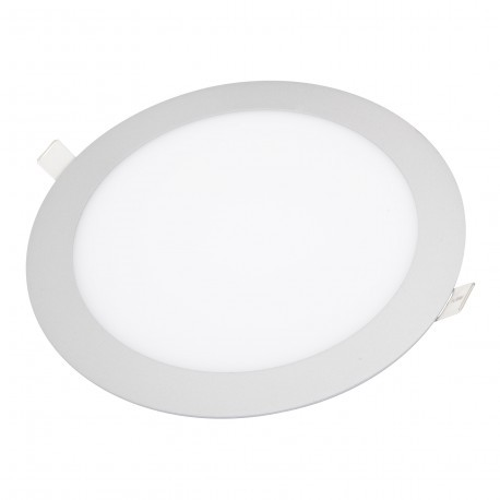 Downlight LED 18W Plateado +1330Lm REDONDO Luz Fría 6000ºK Empotrable