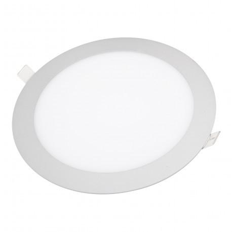 Downlight LED 18W Plateado +1330Lm REDONDO Luz Fría 6000ºK Empotrable