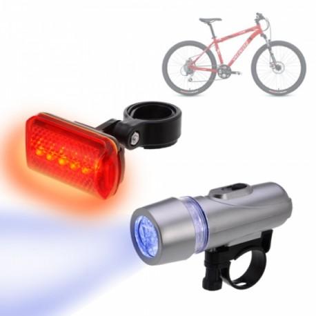 Pack Luces Led para Bicicletas Seguridad en Carretera Diurna y Nocturna