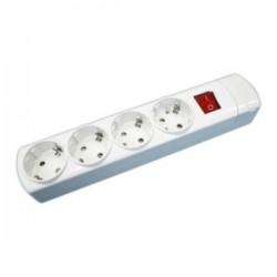 Regleta Electrica 4 Tomas Interruptor Sin Cable