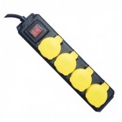 Regleta Electrica 4 Tomas Tapas Interruptor 1,5m