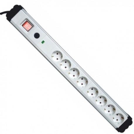 Regleta Electrica 8 Tomas Interruptor Proteccion