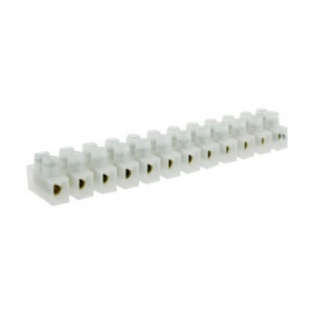 Regleta Conexión Clema 12 Contactos 16Amp Cables 10mm
