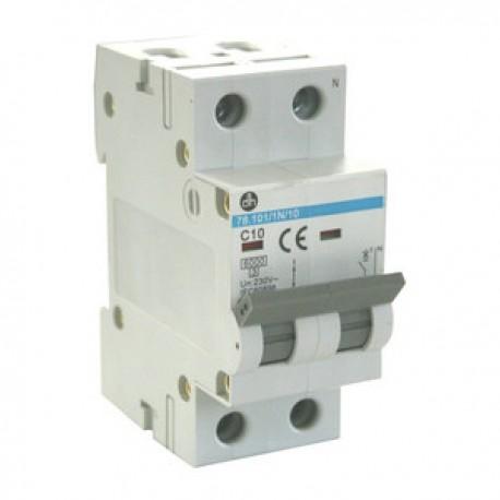Interruptor Magnetotermico 1P+N 10A