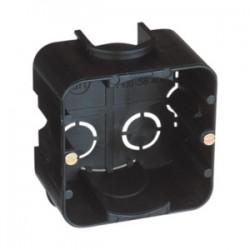 Caja Empotrar Universal Cuadrada para Mecanismo Plástico Negro