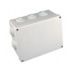 Caja de Conexión Eléctrica para Superficie190x150x80  Plástico Blanco
