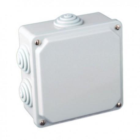 Caja de Conexión Eléctrica para Superficie Estanca 100x100x50mm Plástico Blanco