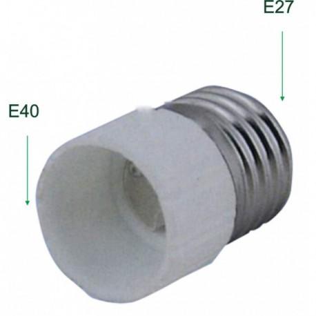 Adaptador de Rosca Bombillas Casquillo E40 Hembra a E27 Macho