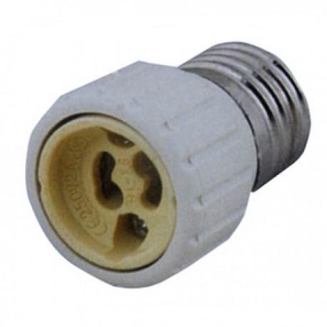 Adaptador de Rosca Bombillas Casquillo  GU10 Hembra a E27 Macho