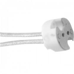 Portalamparas Casquillo BIPIN G4 GU5.3 MR16 cable 15cm