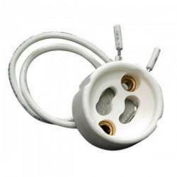 Portalámparas Cerámico Casquillo  GU10 con cable 15cm  y Regleta de Conexión