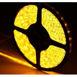 KIT COMPLETO de Tira LED (5m) Luz AMARILLA 60Leds/m 24w NO Impermeable