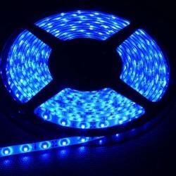 KIT COMPLETO de Tira LED (5m) Luz AZUL 60Leds/m 24w NO Impermeable