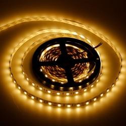 KIT COMPLETO de Tira LED (5m) Luz Cálida 3000ºK 60Leds/m 24w NO Impermeable