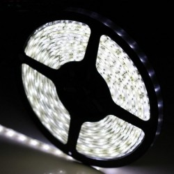 KIT COMPLETO de Tira LED (5m) Luz Blanco Frío 6000ºK 60Leds/m 24w NO Impermeable