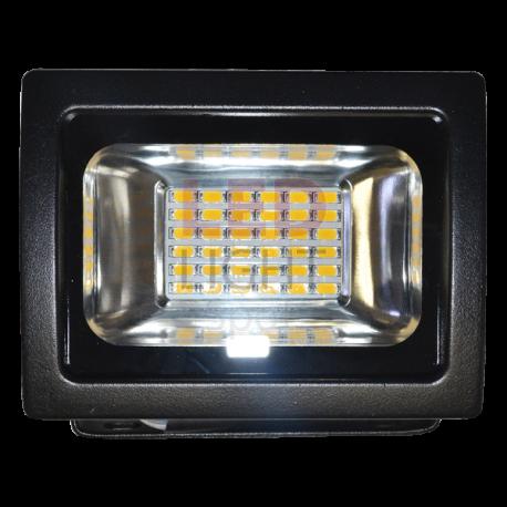 Foco Proyector Led 20W PREMIUM SMD Luz Fría 6000ºK 1600Lm Uso exterior IP65, Más potente y optimizado NEGRO