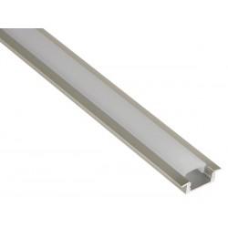 "Perfil con ""ALAS"" Aluminio 200x20mm  para Tiras de Led. Longitud 2 m. Translúcido"