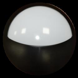 Plafon Superficie 12W +800Lm IP54 Luz Natural 4500ºK Downlight  Circular mitad Negro para Exterior