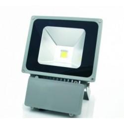 Foco Proyector Led 100W COB Luz Cálida 3000ºK 6400Lm Uso exterior IP65, GRIS