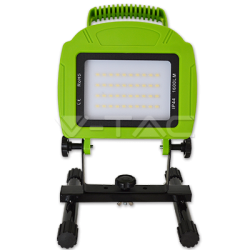 FOCO Proyector LED 20W Recargable,  Luz Natural 4000ºK, Impermeable IP54