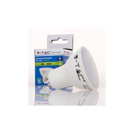 Dicroica LED V-TAC 5w GU10 320Lm Bombilla Luz Fría 110º Apertura luz