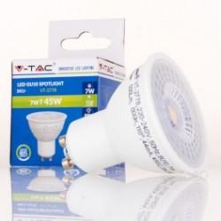 Dicroica LED V-TAC 7w GU10 500Lm Bombilla Luz Fría 110º Apertura luz