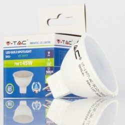 Dicroica LED V-TAC 7w MR16/GU5.3 12V 500Lm Bombilla Luz Fría 110º Apertura luz