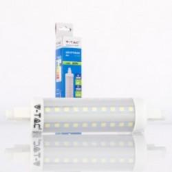 Bombilla LED V-TAC 10w R7S 1000Lm Luz Cálida 118mm 360º Apertura luz