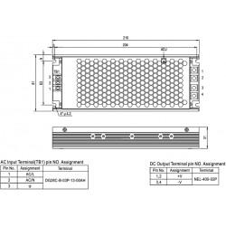 Fuente Alimentación MEANWELL 3V 168W IP20