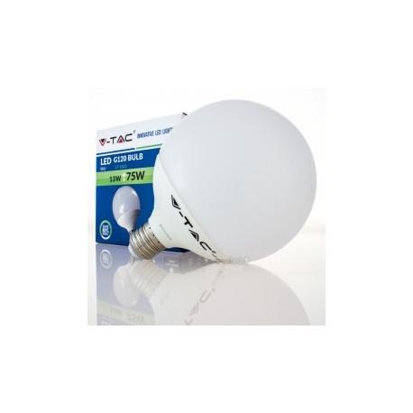 Bombilla LED V-TAC 13w E27 1055Lm Luz Cálida 2700ºK Globo G120 200º Apertura Luz