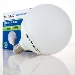 Bombilla LED V-TAC 13w E27 1055Lm Luz Fría 6000ºK Globo G120 200º Apertura Luz