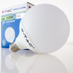 Bombilla LED V-TAC 18w E27 1800Lm Luz Cálida 3000ºK Globo G120 200º Apertura Luz