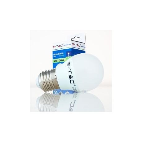 Bombilla LED V-TAC 4w E27 320Lm Luz Natural 4500ºK Esférica G45 180º Apertura Luz