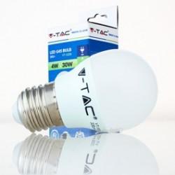 Bombilla LED V-TAC 4w E27 320Lm Luz Cálida 3000ºK Esférica G45 180º Apertura Luz