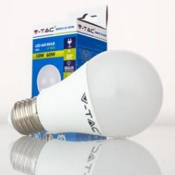 Bombilla LED V-TAC 10w E27 806Lm Luz Fría 6000ºK Esférica A60 200º Apertura Luz