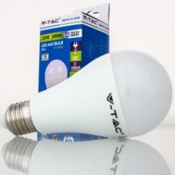 Bombilla LED V-TAC 15w E27 1500Lm Luz Fría 6000ºK Esférica A65 200º Apertura Luz