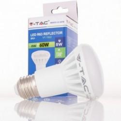 Bombilla LED V-TAC 8w E27 500Lm Luz Cálida 3000ºK R63 Proyector 120º Apertura Luz