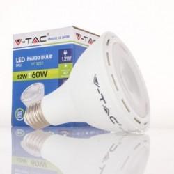 Bombilla LED V-TAC 12w E27 750Lm Luz Natural 4500ºK PAR30 Proyector 40º Apertura Luz