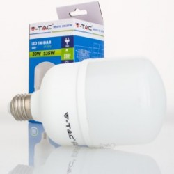 Bombilla LED V-TAC 20w E27 1800Lm Luz Fría 6000ºK Esférica A80 200º Apertura Luz