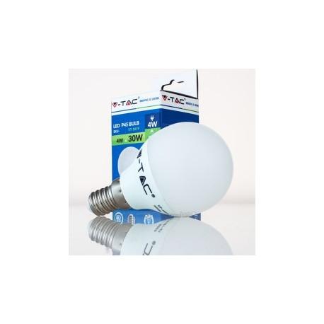 Bombilla LED V-TAC 4w E14 320Lm Luz Cálida 3000ºK Esférica P45 200º Apertura Luz