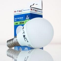 Bombilla LED V-TAC 4w E14 320Lm Luz Fría 6000ºK Esférica P45 200º Apertura Luz