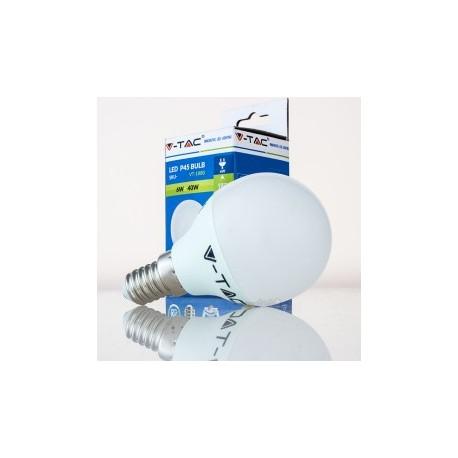 Bombilla LED V-TAC 6w E14 470Lm Luz Fría 6000ºK Esférica P45 200º Apertura Luz