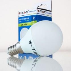 Bombilla LED V-TAC 6w E14 470Lm Luz Cálida 3000ºK Esférica P45 200º Apertura Luz